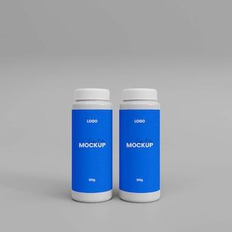 Maqueta de botella de spray en polvo 3d