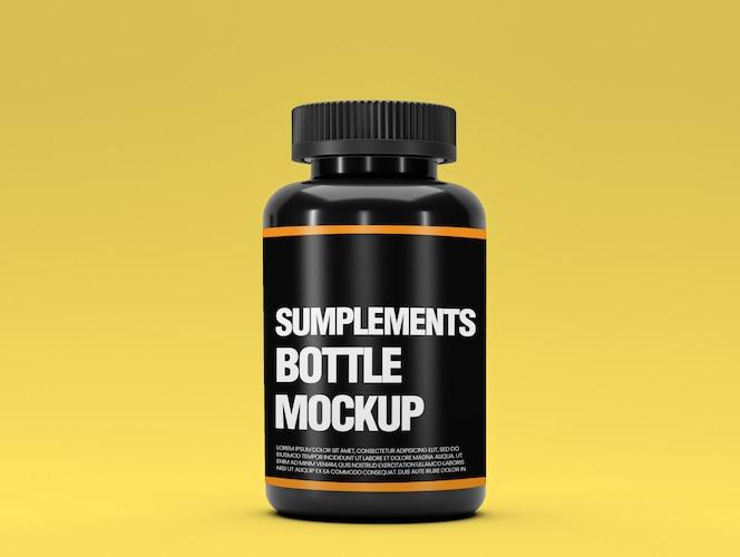 Maqueta de botella de suplemento