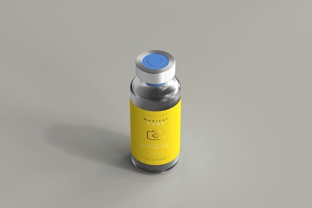 Maqueta de botella de vial de 10 ml
