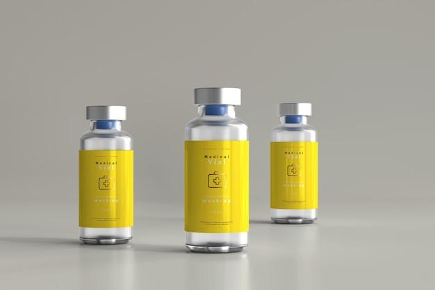 Maqueta de botella de vial de 10 ml