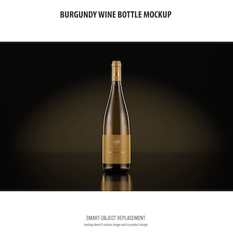 Maqueta de botella de vino de borgoña