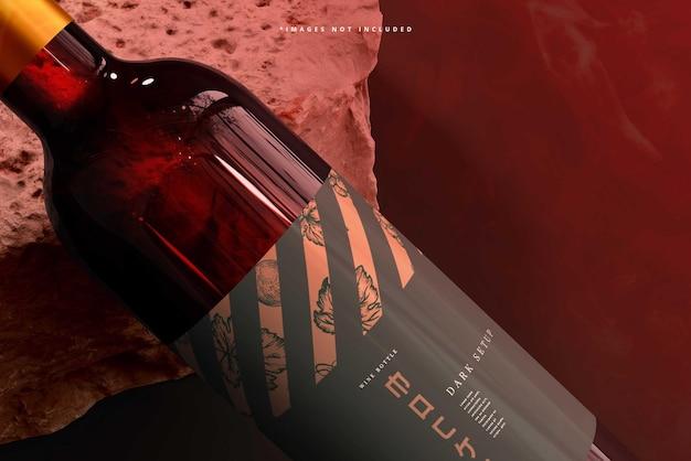 Maqueta de botella de vino