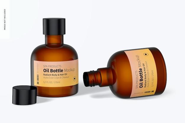 Maqueta de botellas de aceite de 5.7 oz