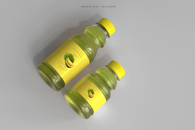 Maqueta de botellas de bebidas