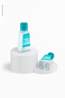 Maqueta de botellas trapezoidales de 1 oz