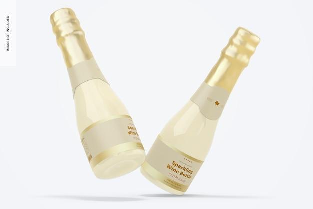 Maqueta de botellas de vino espumoso de 200 ml