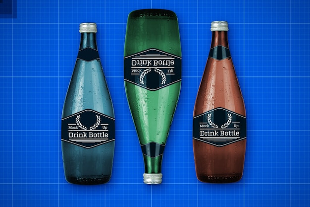 Maqueta de botellas