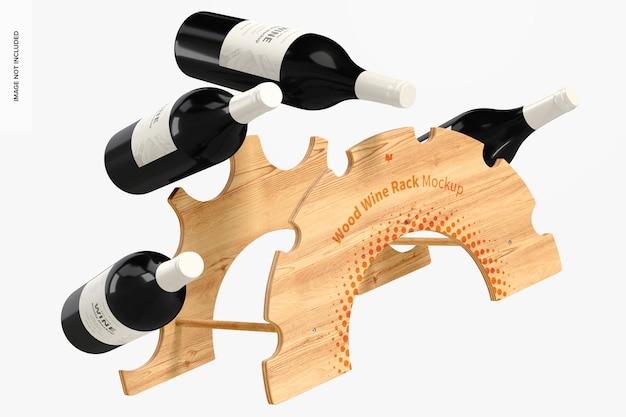 Maqueta de botellero de madera, flotante