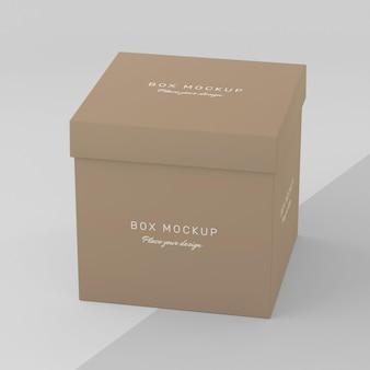 Maqueta de caja de almacenamiento de cartón