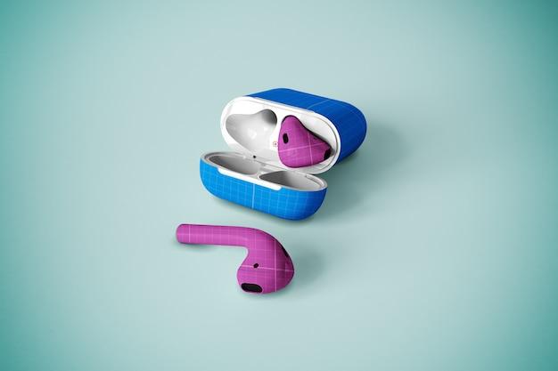 Maqueta de la caja del auricular