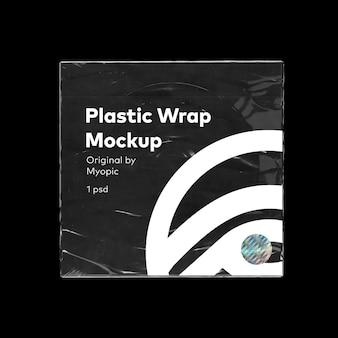 Maqueta de caja de bolsa de cd de plástico