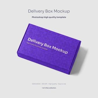 Maqueta de caja de cartón para entrega