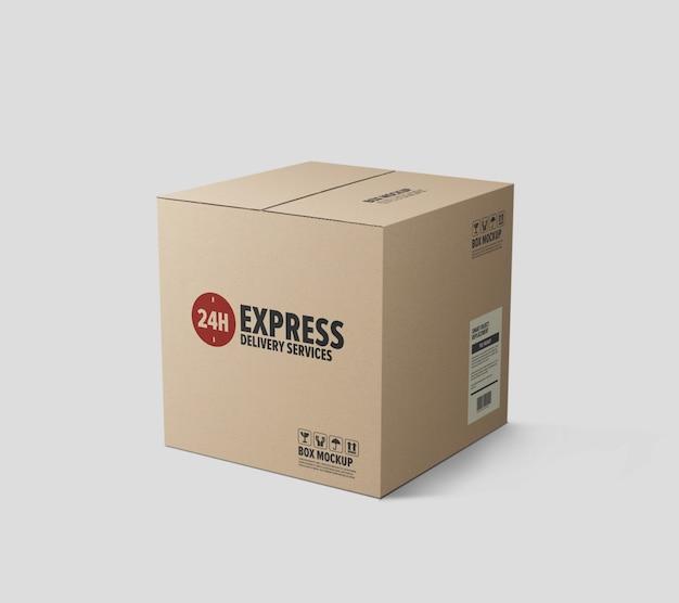 Maqueta de caja de cartón de entrega