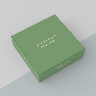 Maqueta de caja de cartón