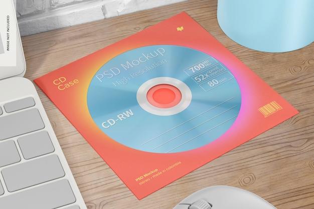 Maqueta de caja de cd cuadrada