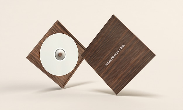 Maqueta de caja de cd