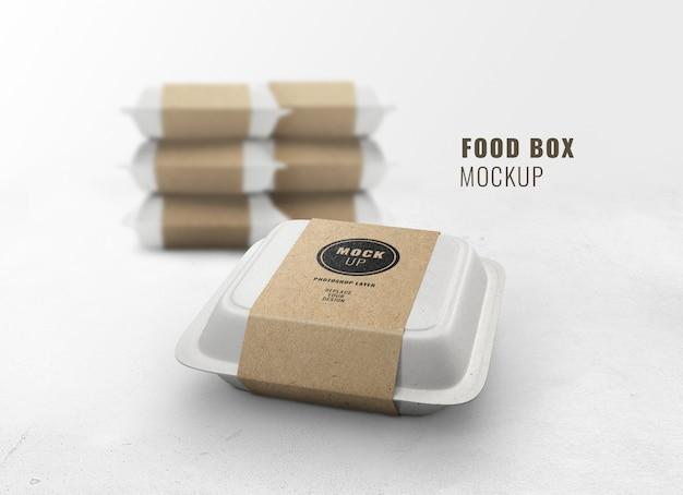 Maqueta de caja de comida rápida realista