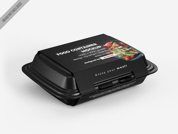 Maqueta de caja de contenedor de comida para llevar