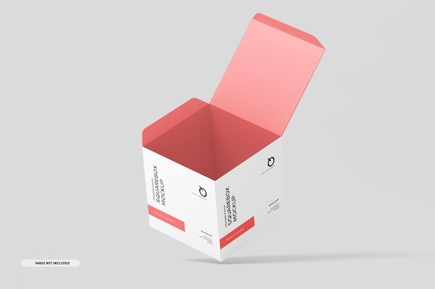 Maqueta de caja cuadrada
