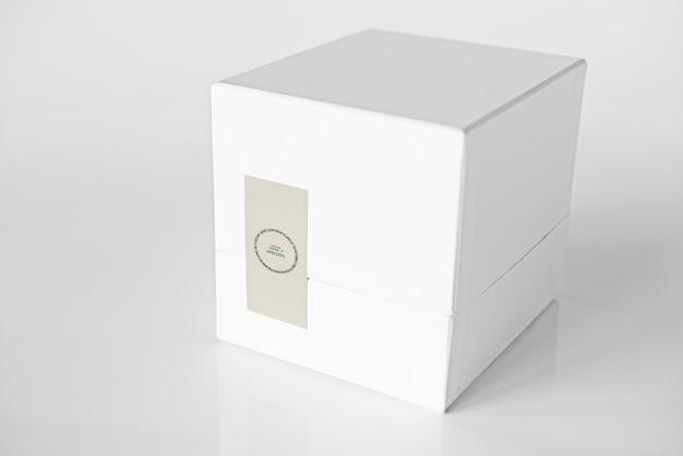 Maqueta de caja de embalaje blanca simple