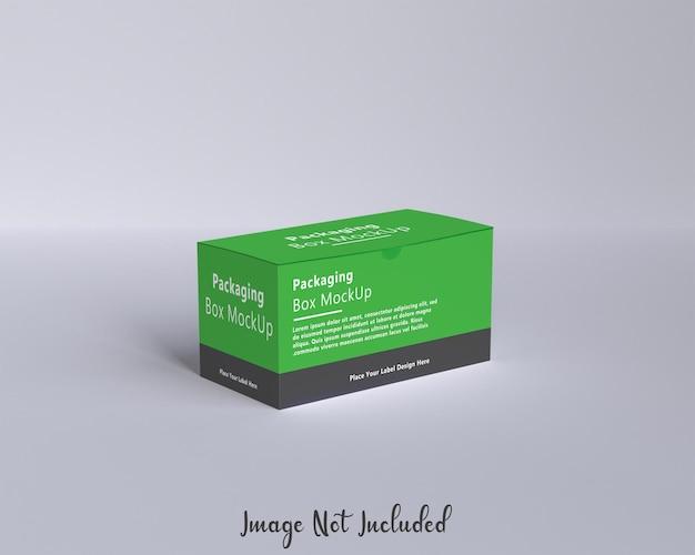 Maqueta de caja de embalaje creativa