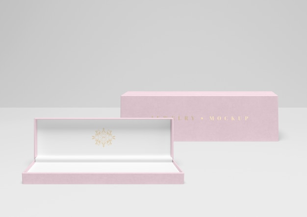 Maqueta de caja de embalaje de joyas