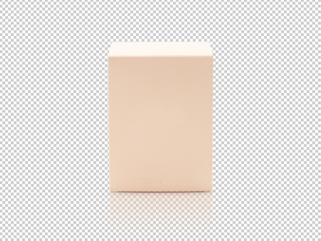 Maqueta de caja de embalaje de producto naranja en blanco