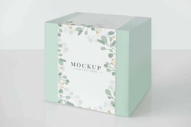 Maqueta de caja de embalaje verde menta
