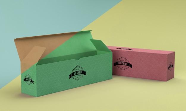 Maqueta de caja de embalaje