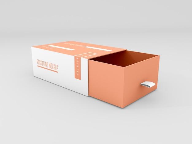 Maqueta de caja de entrega abierta