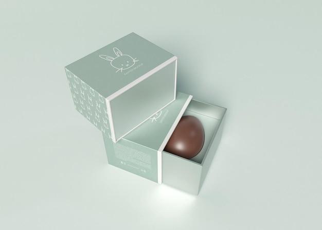 Maqueta de caja de huevos de pascua