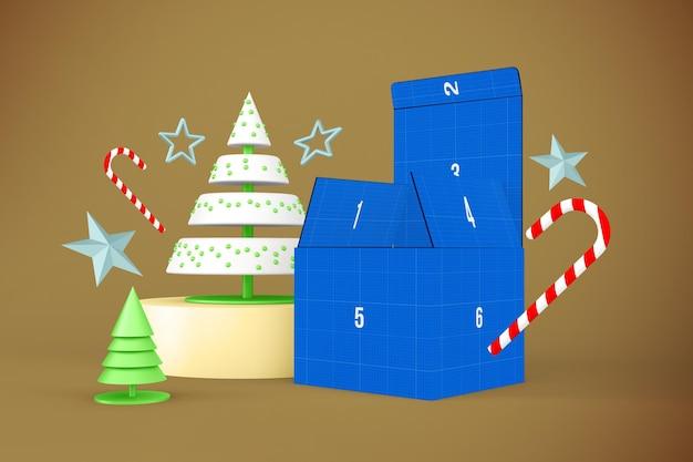 Maqueta de caja navideña
