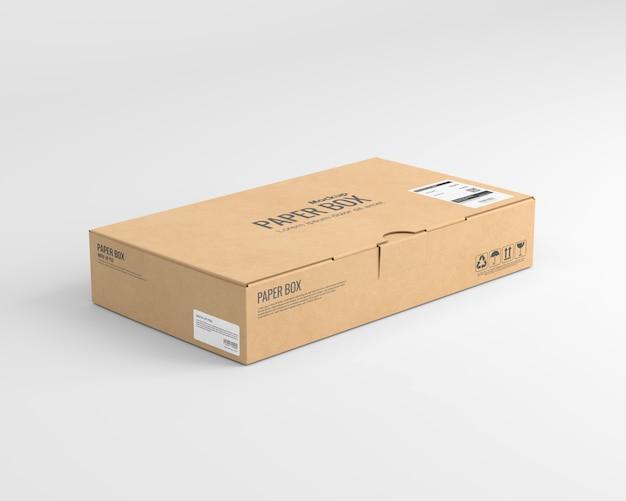 Maqueta de caja de papel
