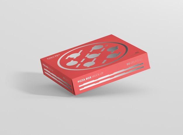 Maqueta de caja de pizza psd gratis