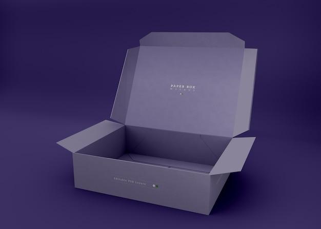 Maqueta de caja plegable