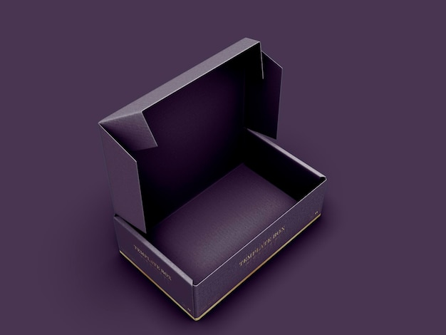 Maqueta de caja rectangular