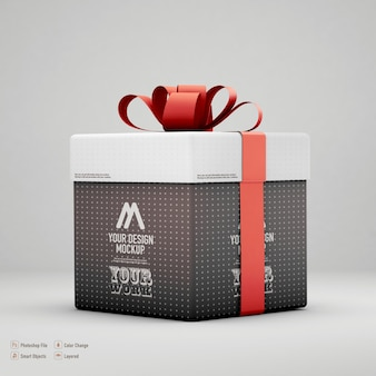 Maqueta de caja de regalo aislada