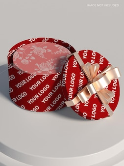 Maqueta de caja de regalo de boda