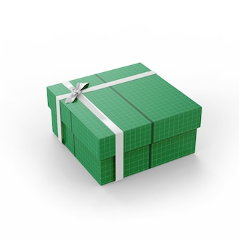 Maqueta de caja de regalo de cartón grande