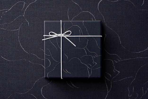 Maqueta de caja de regalo con maqueta de cinta