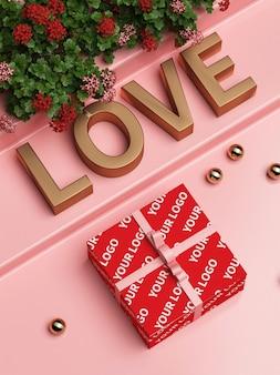 Maqueta de caja de regalo