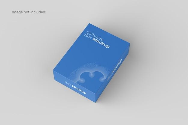 Maqueta de caja de software de perspectiva