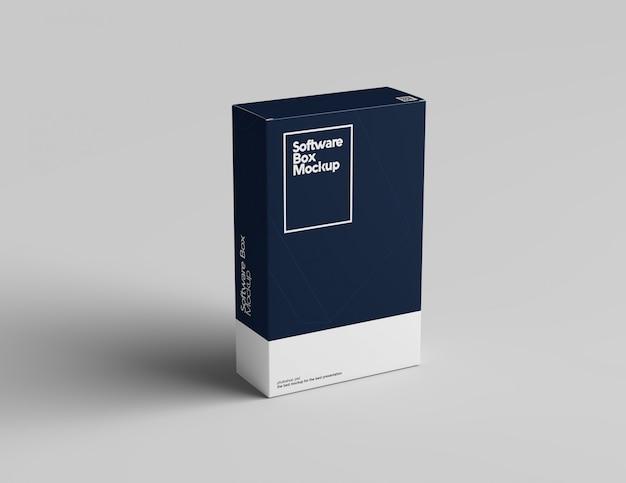 Maqueta de caja de software