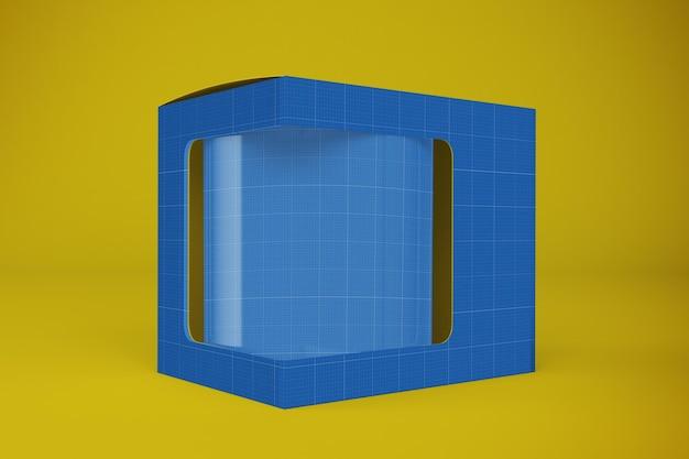 Maqueta de caja para tazas