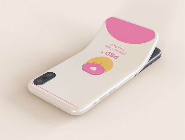 Maqueta de la caja del teléfono móvil