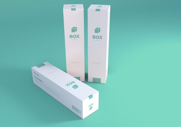 Maqueta de cajas altas de embalaje