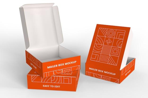 Maqueta de cajas de correo