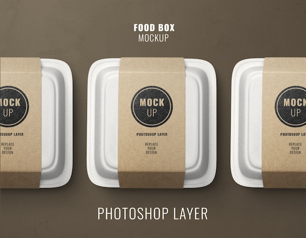 Maqueta de cajas de entrega de comida rápida