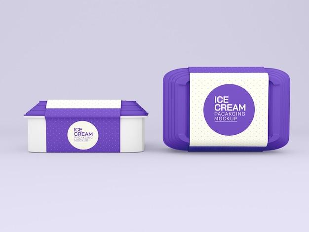 Maqueta de cajas de helado
