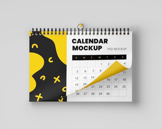Maqueta de calendario colgante realista